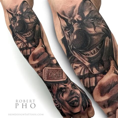 clowns tattoos the ultimate clown skin design