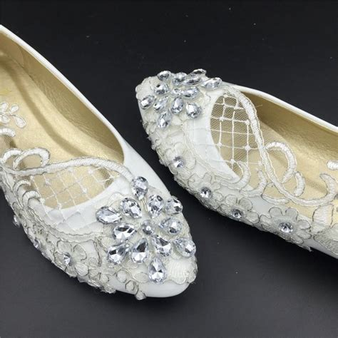 Womens Flat Wedding Shoes by Wedding Flats Bridal Ballet Shoes Comfortable Flats Lace