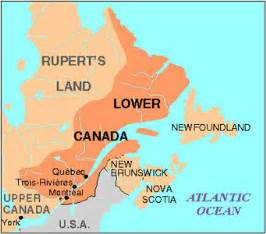 map of and lower canada rebellion in lower canada the canadian encyclopedia