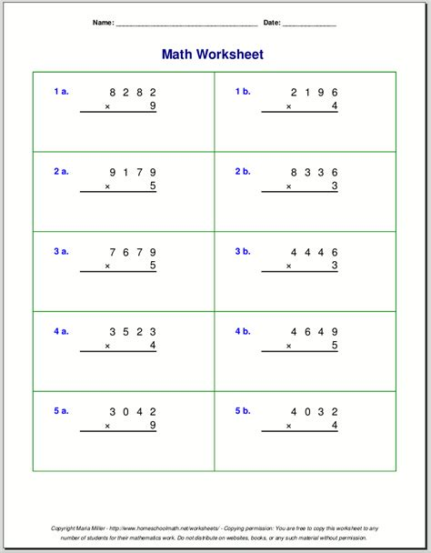 Math Worksheets 4 by Math Work Sheet Grade 4 New Calendar Template Site