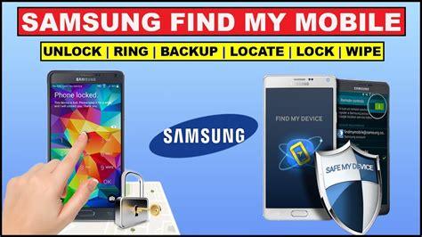 Samsung Find My Phone Find Your Lost Phone Unlock Pattern Wipe Data Via Samsung Find My Mobile