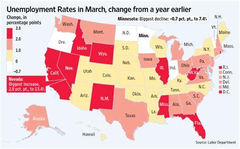 washington dc map surrounding states west hit hardest by unemployment wsj