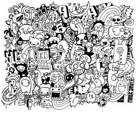 doodle for free doodle mash up coloring page free printable coloring pages