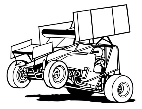 sprint car coloring page free sprint cars coloring pages sprint car coloring pages