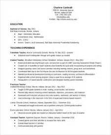 Resume Templates Teachers by Elementary Resume Template 7 Free Word Pdf