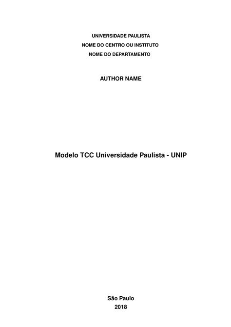 Modelo TCC Universidade Paulista - UNIP - FastFormat