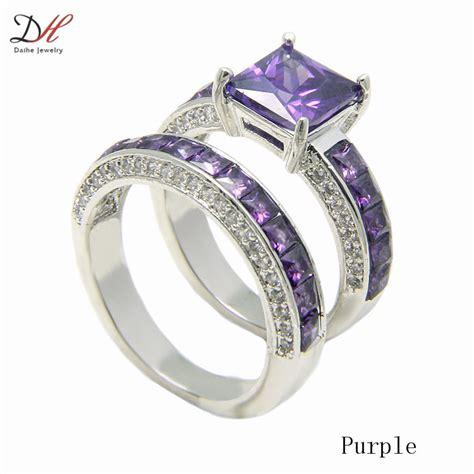 daihe prong cz turkish engagement wedding rings pink