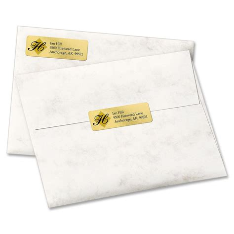 Avery Gold Foil Mailing Label Ld Products Avery 8987 Gold Foil Template
