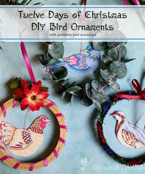 twelve days of diy bird ornament free
