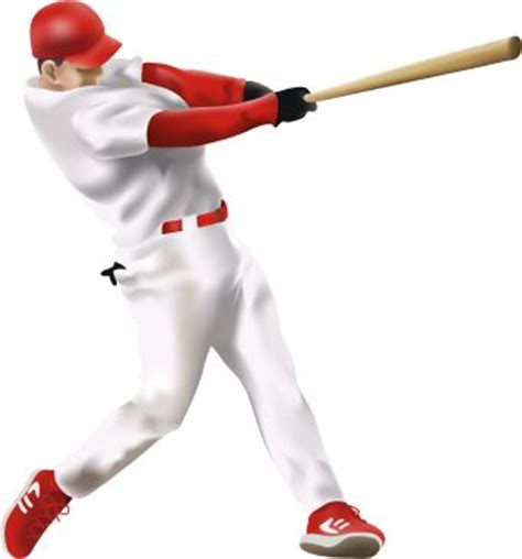 baseball player swinging bat clip art sports clip art