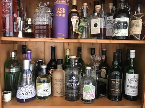 Gin Shelf by Just The Beginning Beinn An Tuirc Kintyre Gin
