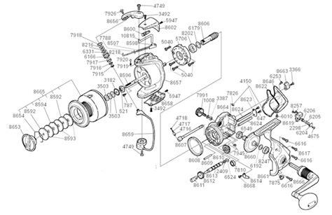 shimano stradic parts diagram shimano st 8000fh parts list and diagram