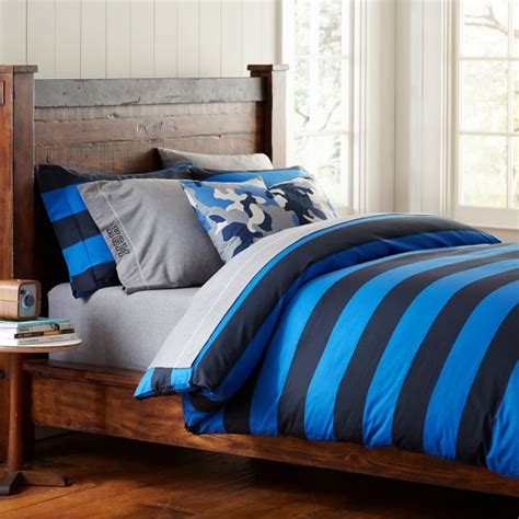 rugby stripe bedding rugby stripe duvet cover pillowcases pbteen