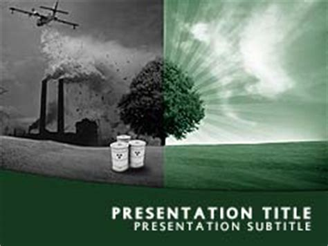 Royalty Free Environmental Pollution Powerpoint Template Air Pollution Ppt Templates Free