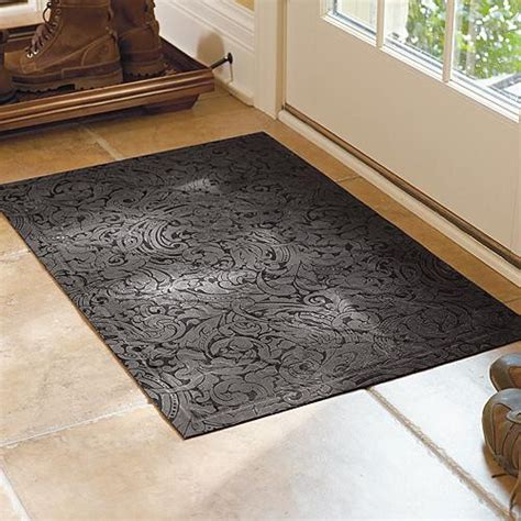 low profile rug low profile scroll trellis mat traditional doormats by frontgate