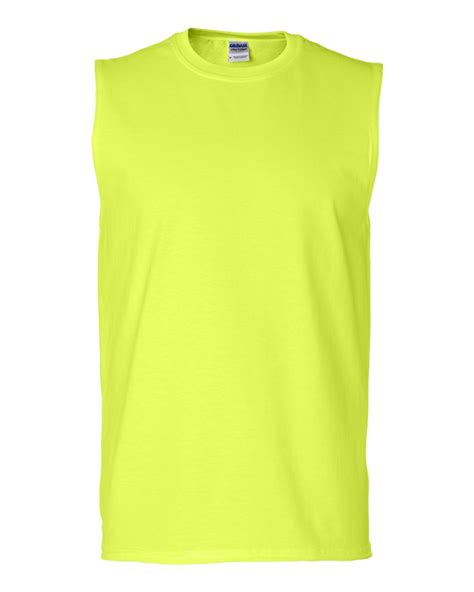 Sleeve Color Gildan 100 Original gildan mens ultra cotton sleeveless sports t shirt