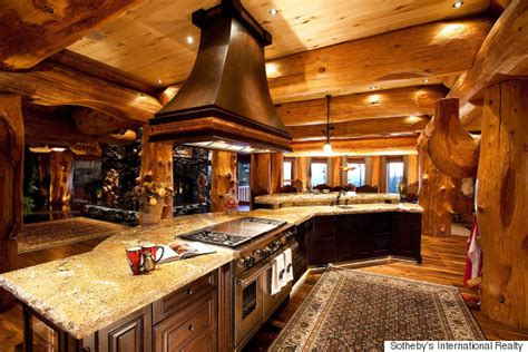 S Kitchen Cabins Il by Big White Luxury Log Castle Crafted From Centuries