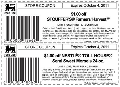 Printable Food Lion Coupons | the thrifty deafies food lion printable coupons