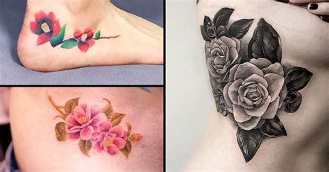 camellia flower tattoo camellia flower pictures to pin on