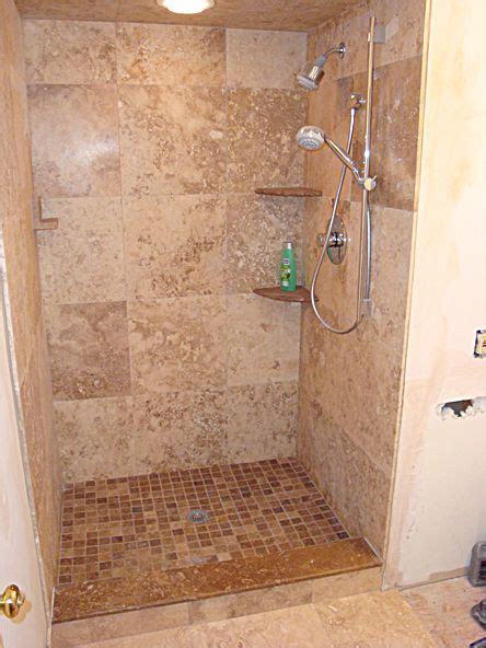 doorless curbless tile shower with river rock floor and 34 best images about doorless showers on pinterest