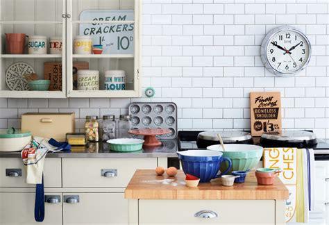 vintage style kitchen vintage clocks provide functional artwork for kitchen