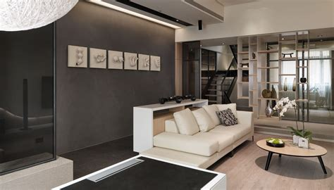 multi level contemporary apartment
