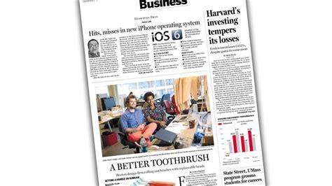 Boston Globe Business Section by Rebrush Littlebonsai A Product Development Studio