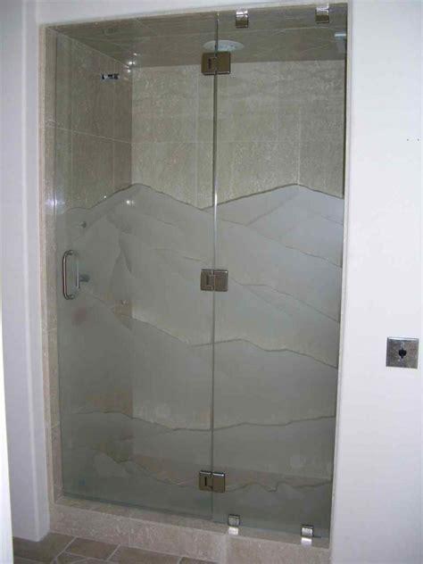 Etched Shower Doors Srn Dsrt Glass Shower Doors Etched Glass Western Design