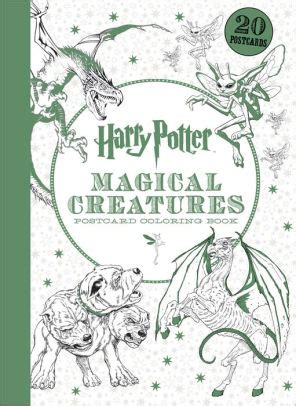 harry potter coloring book filled in harry potter magical creatures postcard coloring book by