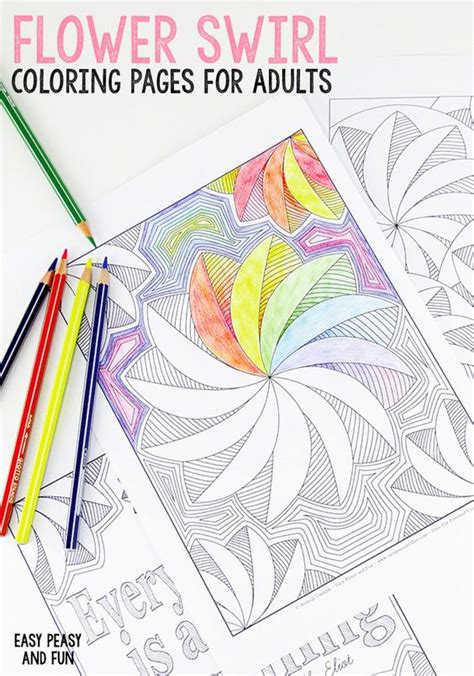 coloring book for adults amazing swirls coloring free printable coloring pages and flower on
