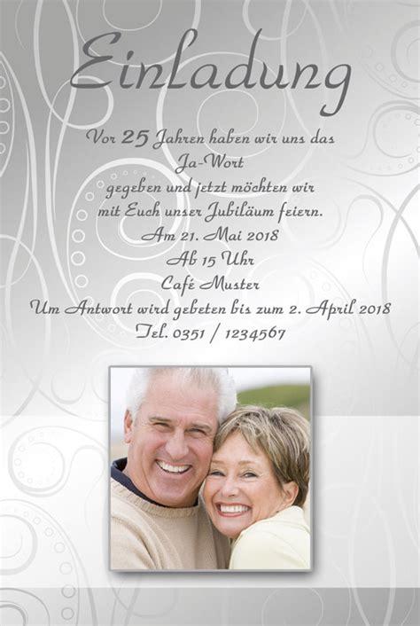 Einladungskarten Hochzeitstag by Einladung Einladungskarten Silberhochzeit Dankeskarten