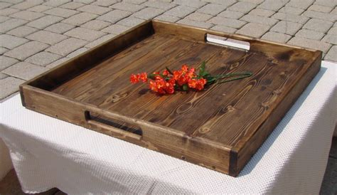 wooden serving tray for ottoman rustic ottoman tray wooden tray serving tray coffee table