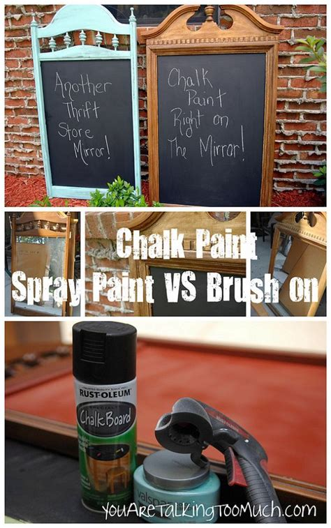 spray painting with brush spray paint vs brush paint chalkboards