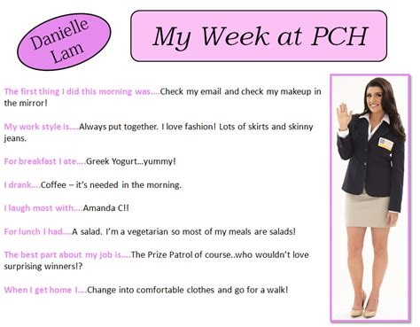 Danielle Lam Pch Prize Patrol - danielle lam of the pch prize patrol tells you about her week pch blog