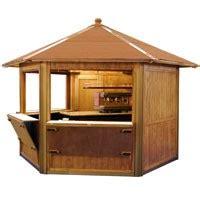 gazebo bar usato chiosco bar in legno usato pannelli decorativi plexiglass