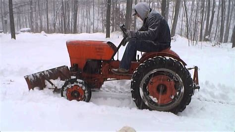 power king tractor  white christmas snow plow youtube