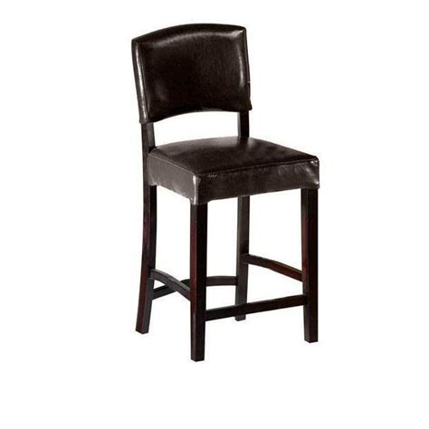 bar stools for home home decorators collection 24 in brown cushioned counter