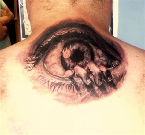eyeball tattoo on back of head eye tattoos tattoo ideas