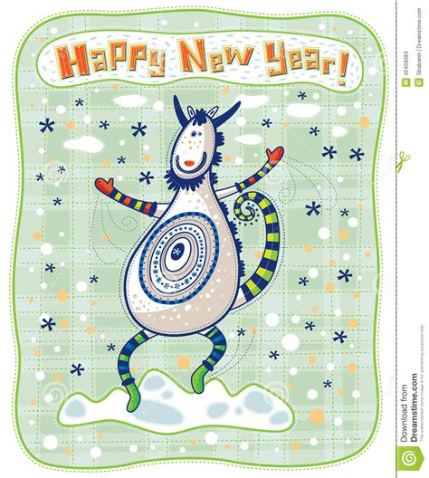 new year goat cards greeting card goat happy new year stock vector
