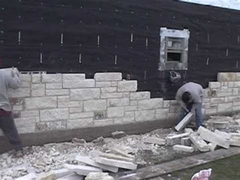 House Beautiful Subscription by Masonry Installing The Limestone Exterior Walls Youtube