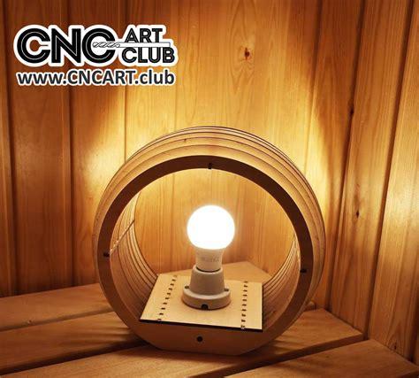 wooden lamp plan  cnc  laser cut