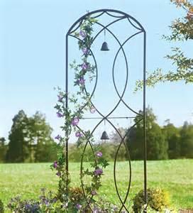 Outdoor Metal Trellis Metal Garden Trellis With Two Bells Plow Hearth There