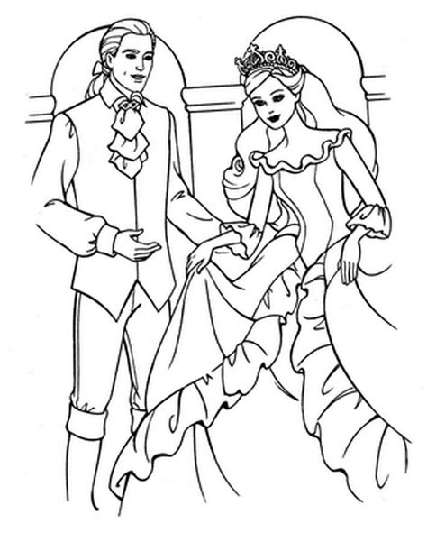 barbie coloring pages barbie and ken coloring pictures