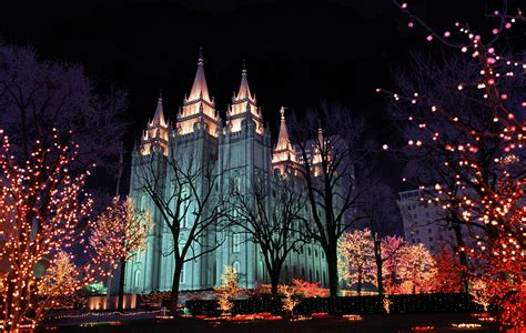 mormon temple lights 12 days of temple square