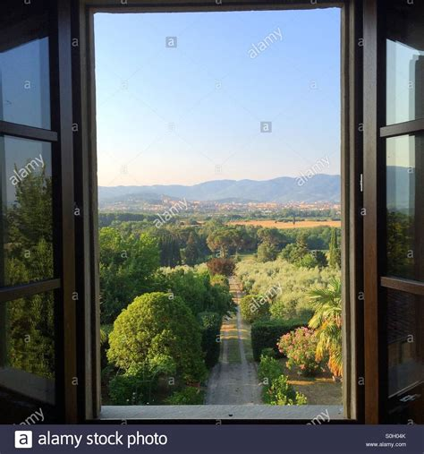window with a view an open window with a view of tuscany and arezzo from