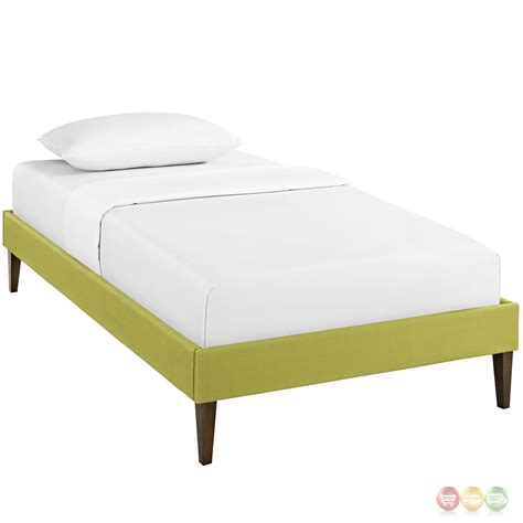 platform bed frame twin sharon modern twin fabric platform bed frame with square