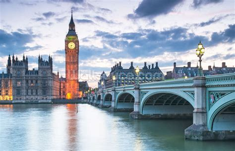 London Clock Tower by London Westminster At Dusk Wallpaper Wall Mural