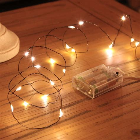 how are fairy lights wired 2m micro battery lights on black wire 20 leds