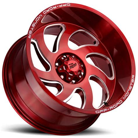 road monster wheels  candy apple red milled