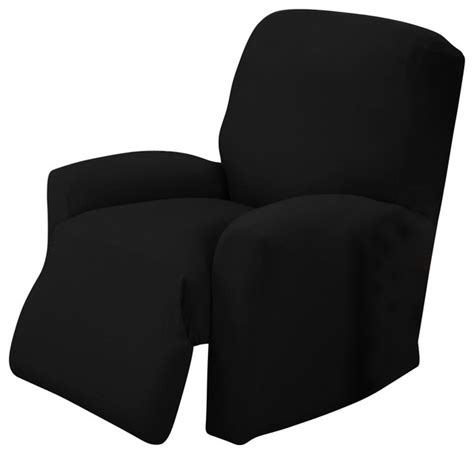 black chair slipcovers jersey slipcover recliner black modern slipcovers and